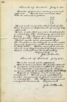 AS Board Minutes - 1923 July