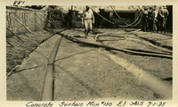 Lower Baker River dam construction 1925-07-01 Concrete Surface Run #150 El.3415
