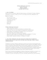WWU Board of Trustees Meeting Records 2019 April