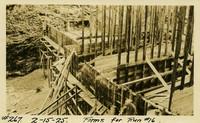 Lower Baker River dam construction 1925-02-15 Forms for Run #16
