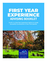 First Year Experience Advising Booklet