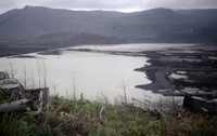 Army Corps of Engineers dam on North Fork Toutle River, designed to stop mud and debris.