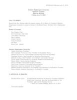 WWU Board of Trustees Minutes: 2018-06-15