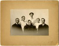 Studio portrait of Snyder family
