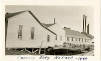 Cannery buildings on docks of Naknek, Alaska, 1940