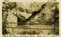 Lower Baker River dam construction 1925-06-15 Rock Surface Run #134 El.2695