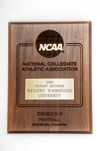 Football Plaque: NCAA Statistical Champion, Kickoff Returns, 2000
