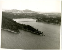 Aerial photo that appears to be looking north across Clark Point
