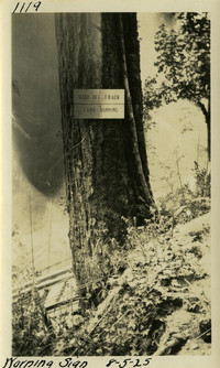 Lower Baker River dam construction 1925-08-05 Warning Sign