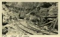 Lower Baker River dam construction 1924-09-09 Construction activity at dam site