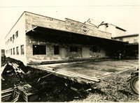 Warehouse and loading dock of Washington Egg & Poultry Association Co-operative in Lynden, Washington, under construction