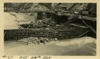 Lower Baker River dam construction 1924-10-28 Cofferdam