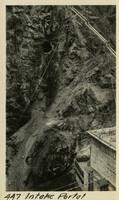 Lower Baker River dam construction 1925-04 Intake Portal