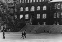 1968 Students Outside Old Main
