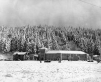 1950 Campus School Building Jan. 1950, Snow on the Ground