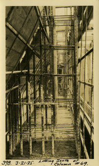 Lower Baker River dam construction 1925-03-21 Looking South of Column #69
