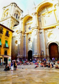 Las Escaleras de La Catedral de Granada - Spain