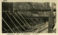 Lower Baker River dam construction 1925-07-01 Setting 30 I-Beams