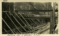 Lower Baker River dam construction 1925-07-01 Setting 30 I-Beams
