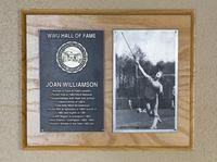 Hall of Fame Plaque: Joan Williamson, Track and Field (Javelin), Class of 1994