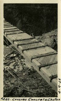 Lower Baker River dam construction 1925-04-09 Covered Concrete Chutes