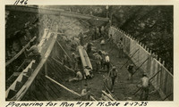 Lower Baker River dam construction 1925-08-17 Preparing for Run #191 W. Side