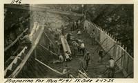 Lower Baker River dam construction 1925-08-17 Preparing for Run #191 W. Side