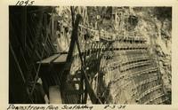 Lower Baker River dam construction 1925-08-03 Downstream Face Scaffolding