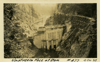 Lower Baker River dam construction 1925-04-26 Upstream Face of Dam