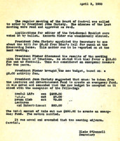 AS Board Minutes 1933-04