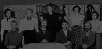 1950 Edens Hall: Cast of Play in Blue Room