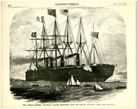Page from Harper's Weekly July 24, 1869, issue with print of woodcut of