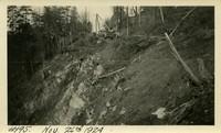Lower Baker River dam construction 1924-11-26 Access road through woods