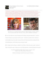Sara Holbrook and Michael Salinger interview [transcript]
