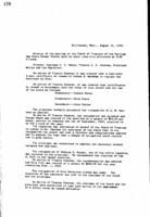 WWU Board minutes 1910 August