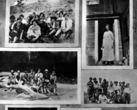 Collage of photographs from YWCA's Camp Olga