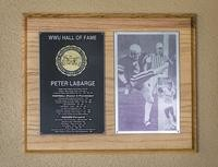 Hall of Fame Plaque: Peter LaBarge, Football (Kicker, Punter), Men's Soccer, Class of 2000