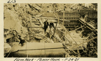 Lower Baker River dam construction 1925-05-24 Form Work Power House