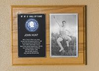 Hall of Fame Plaque: John Hunt, Track and Field (Long Jump), Class of 1987