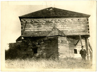 Exterior of defensive block house at Fort Bellingham