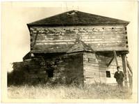 Exterior of defensive block house at Fort Bellingham