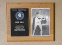 Hall of Fame Plaque: Mike Dahl, Men's Basketball (Center), Class of 1981