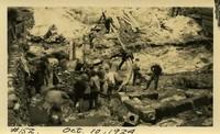 Lower Baker River dam construction 1924-10-10 Base construction, showing foundation drains