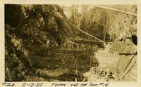 Lower Baker River dam construction 1925-02-13 Forms Set for Run #14