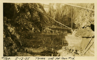 Lower Baker River dam construction 1925-02-13 Forms Set for Run #14