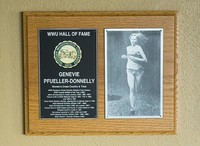 Hall of Fame Plaque: Genevie Pfueller-Donnelly, Cross-Country Running, Track and Field, Class of 1999
