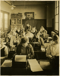 Typing class at Fairhaven High School