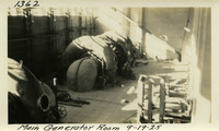 Lower Baker River dam construction 1925-09-19 Main Generator Room