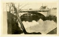 Whatcom Creek Bridge above powerhouse containment dam