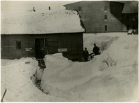 Clark Electric Company - path through deep snow leads to shop door